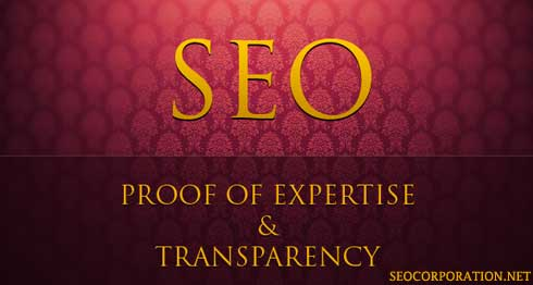 SEO Proof of Expertise and Transparency