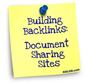 building backlinks with document sharing websites
