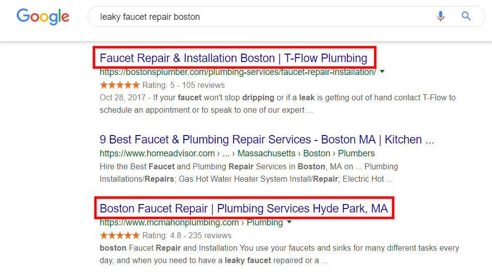 Leaky faucet repair boston